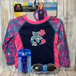 Swim Tee Rash Guard UPF 50 Girl's Size M 2-4 Years